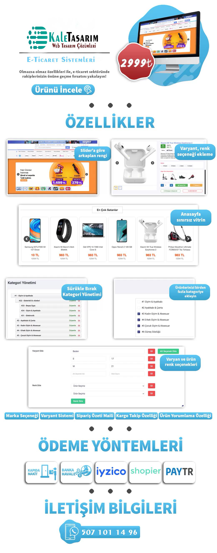 En Yeni E-Ticaret Sistemleri Kaletasarim'da